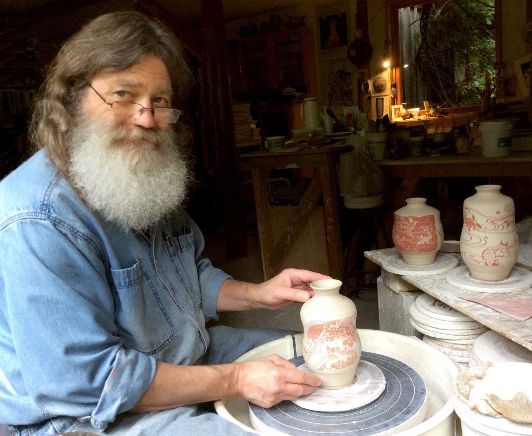 Denman Island Craft Fair artist Gordon Hutchens