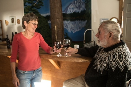 Pat and Selwyn Jones of Corlan Vineyards