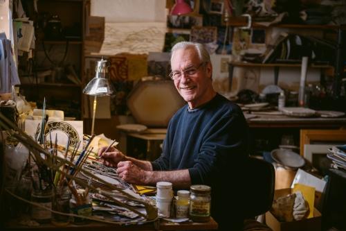 Glass artist John Harned